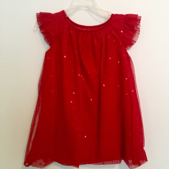 Cat & Jack Other - Sparkly Flutter Sleeve Tulle Party Dress